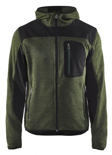 Blaklader Knitted Jacket 4930 (Army Green/Black)